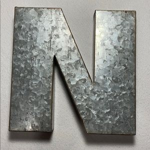 One ArtMinds Craft It Galvanized Metal Letter N